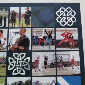 Mosaic Moments Diamond Ring Die Tartan paper tile Highland Dancers Competition photos
