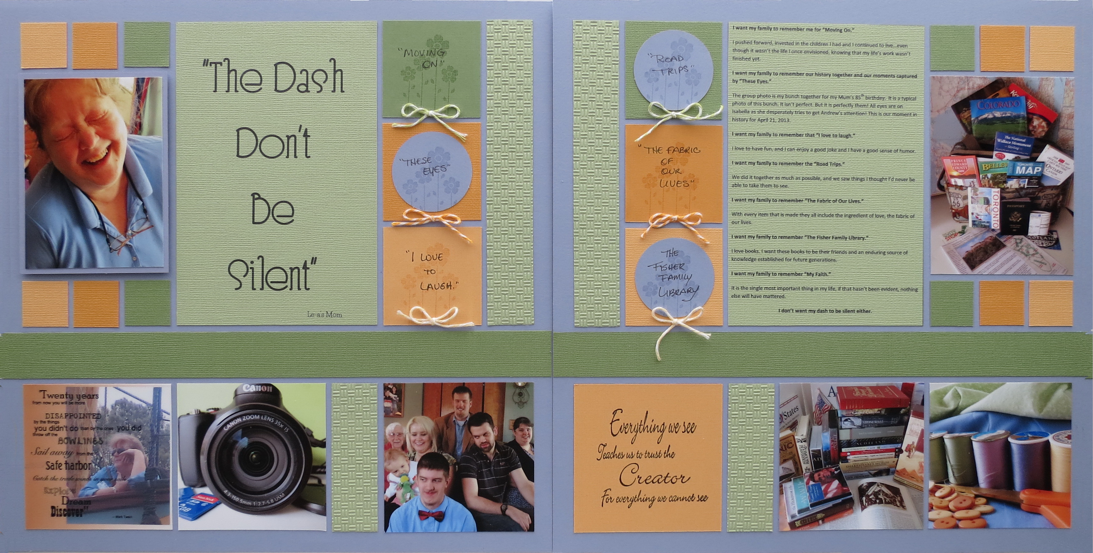How to design scrapbook using colored paper - Layout One