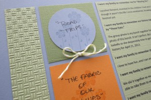 Stamped images, twine accents, textured cardstock