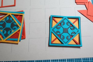 Layering the tiles to create the Mexican Tiles