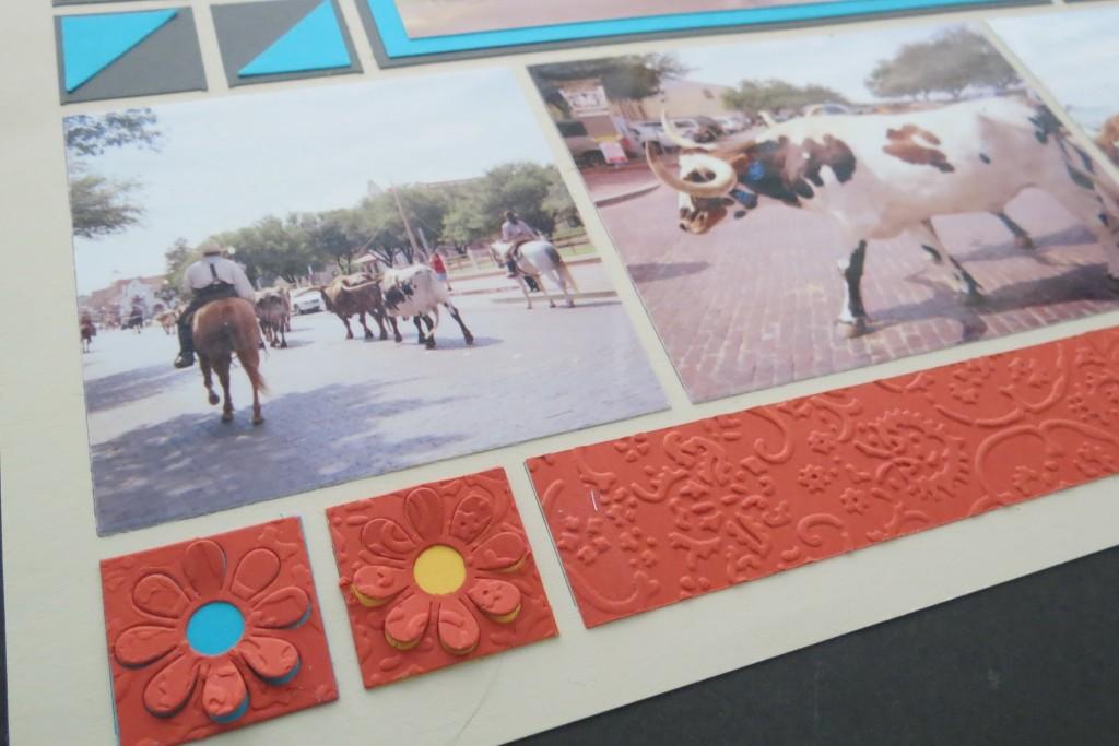 MM INSP embossed border and petal popper tiles