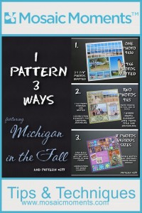 MM One Pattern Three Ways with a mosaic style pattern #299