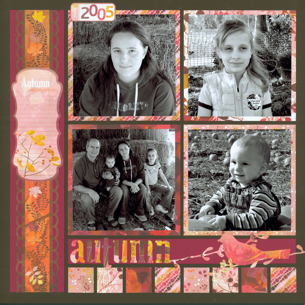 Mosaic Scrapbook Pages