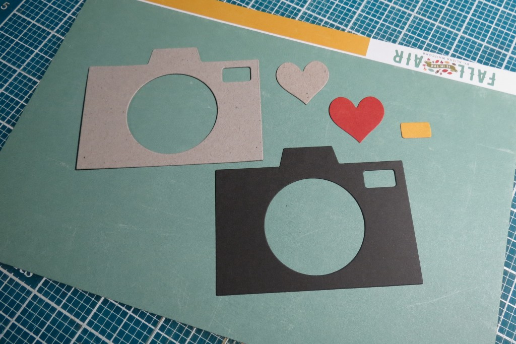 Smile for the Camera Die cutting two layers in chipboard and one in cardstock
