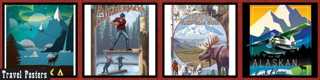 MM Alaska Travel Posters