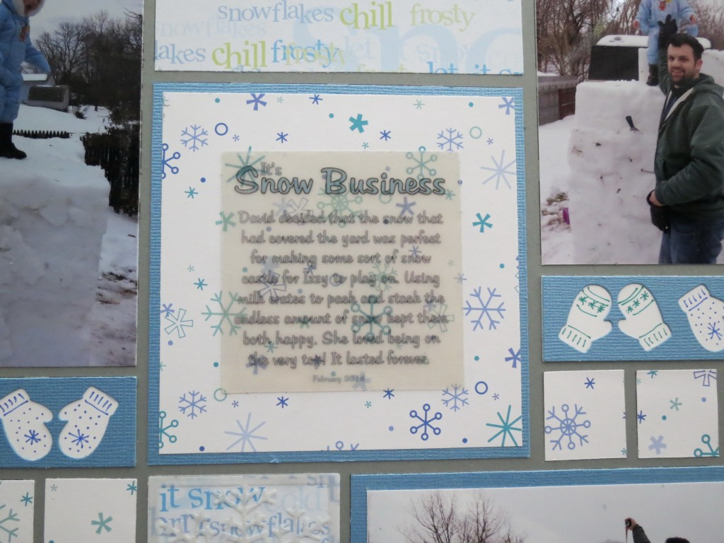 MM Scrapping Winter Journal Block using Printable Transparent Sheets