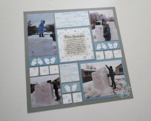 MM Scrapping Winter Pattern #125 featuring Mittens Border Die