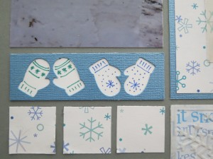 MM Scrapping Winter Mittens Border Die Set details with Zig Markers