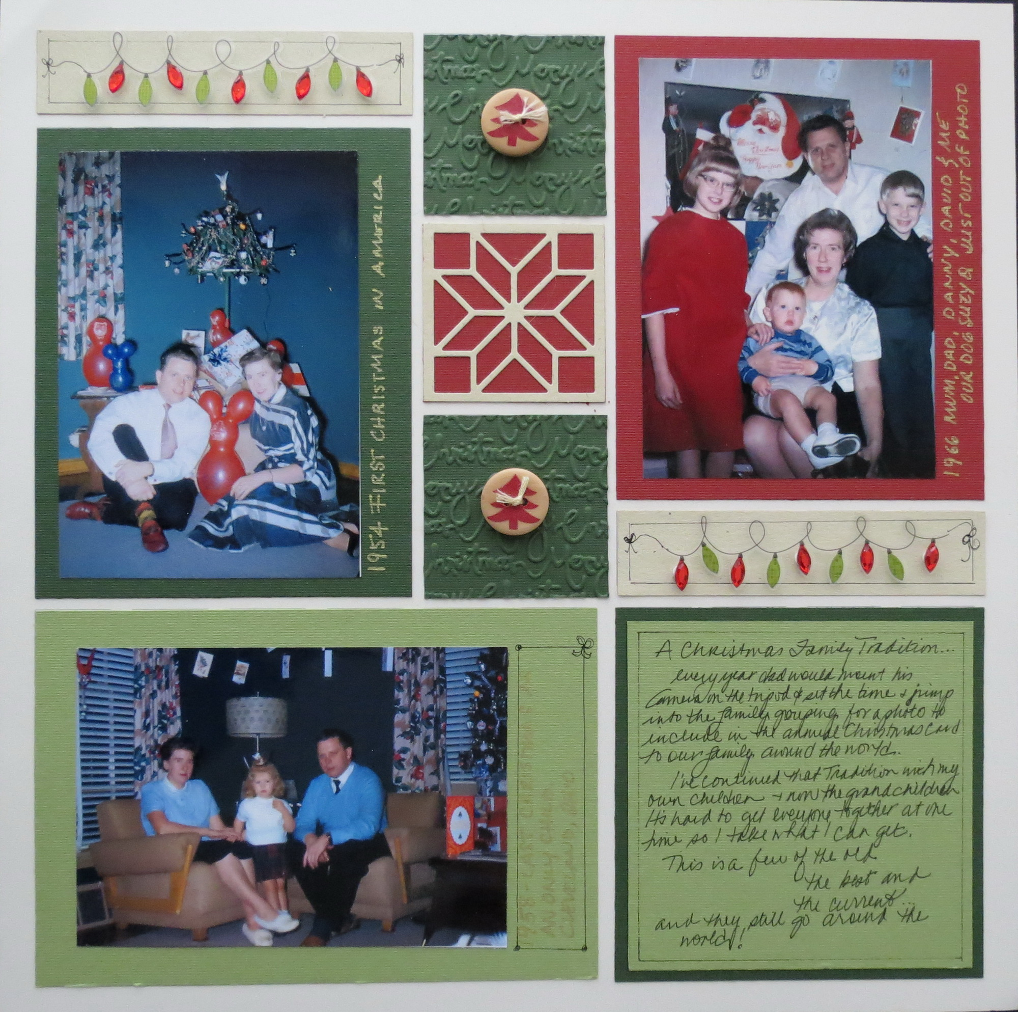How to scrapbook a holiday - Mm Tys Christmas Then
