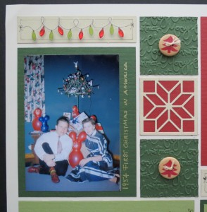 MM TYS Christmas Traditions embellishments, embossed tiles and Carpenter's Star cornerstone tile.