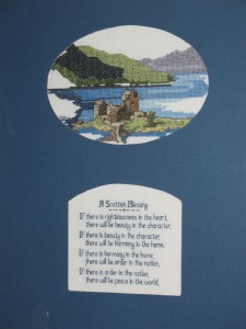 Original Cross-stitch Design of Eilean Donan Castle by Andrea Fisher