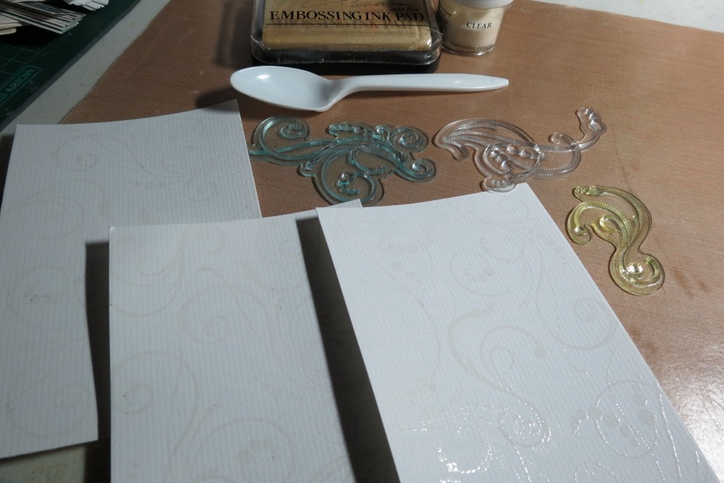 MM Embossing Powder to heat set stamped images