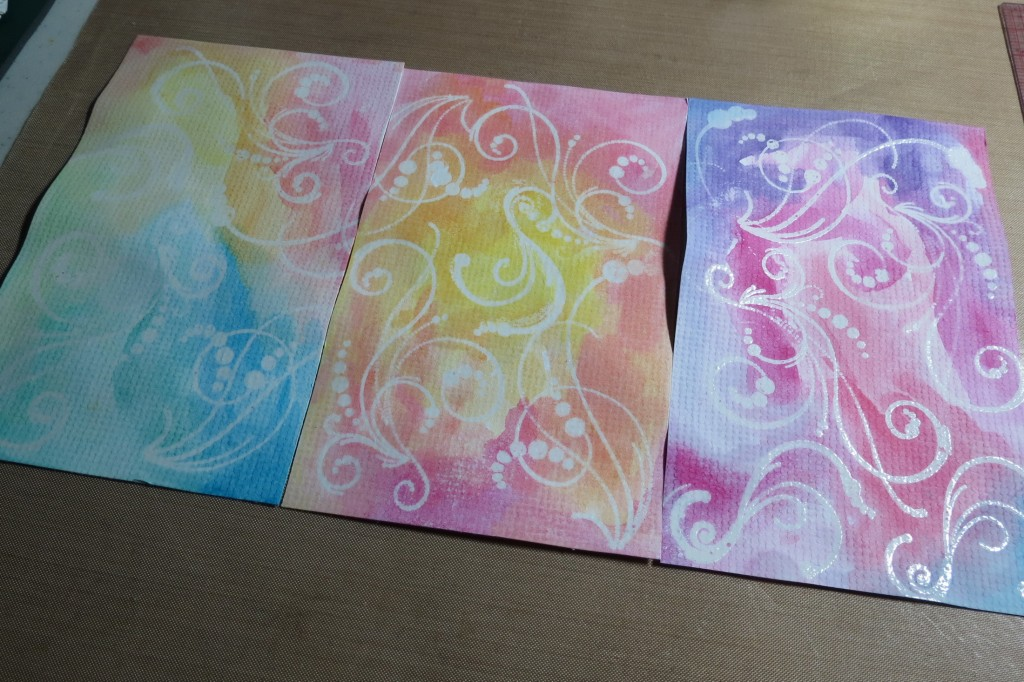 MM Water Color applied over the heat set embossed images (2)
