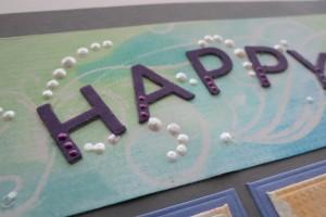 MM Alphabet 2 Die Set chipboard mounted, Liquid Pearls accents