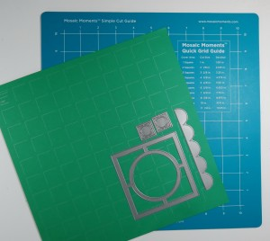 Mosaic Moments Emerald Grid, the new double sided craft mat, dies