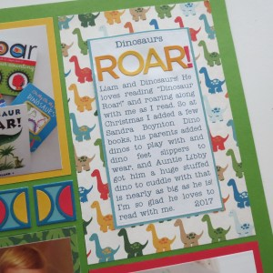 MM Dinosaurs Roar! Half-Circle Die journaling block