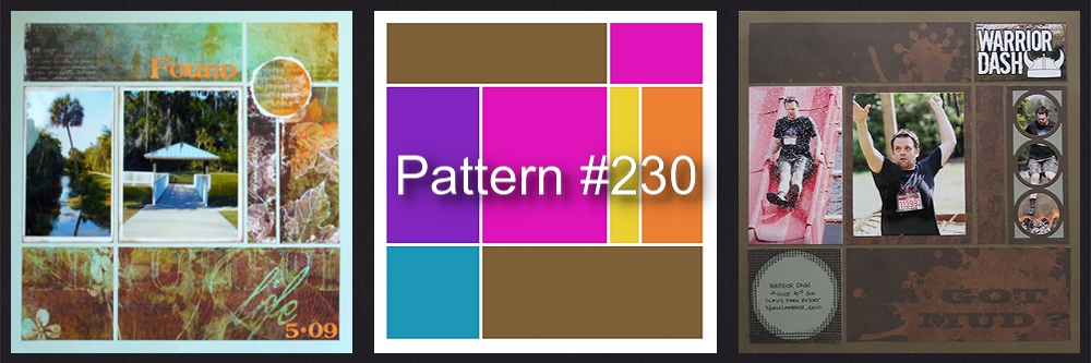 Mosaic Moments Pattern Refresher Course Pattern #230 before and after