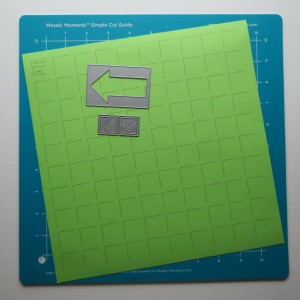 "Mosaic Moments Limeade Grid Paper 2x3 Arrow Die and 1"" sq. Point the Way Die"