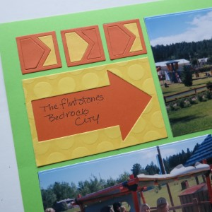 "Mosaic Moments Pattern #208 2x3 Arrow Die 1""square Point the Way Die Embossed two-tone yellow cardstock"