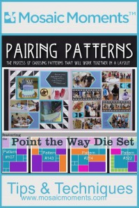 MM Pairings Point the Way Die Set Lilac Mosaic Moments Gird Paper