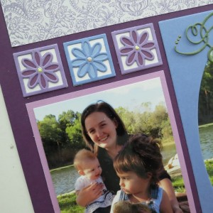 Mosaic Moments Royal Purple Grid and 8 Petals and Oval Frame Dies.