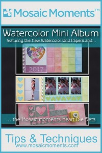Mosaic Moments Watercolor Grid Papers and Heart Die Sets