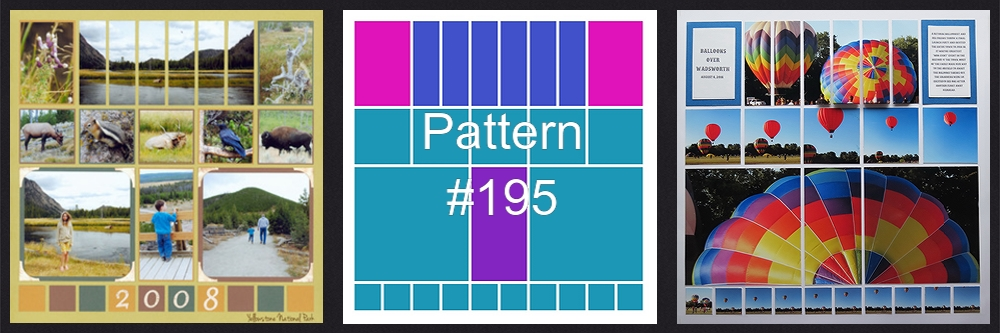 Mosaic Moments Pattern Refresher Course Pattern #195 old and new designs