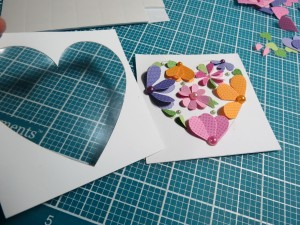 Mosaic Moments Heart Dies and frame. add top frame layer