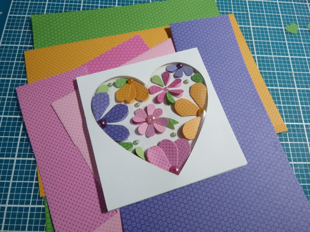 Mosaic Moments heart dies create a stunning cover embellishment