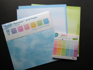 """Mosaic Moments Watercolor Grid Papers and Watercolor Wishes from Lawn Fawn in 8""""x8"""" pad and 12""""x12"""" papers"""