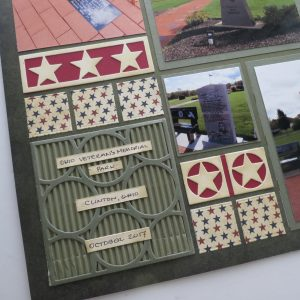 Mosaic Moments Pattern Pairings Circling Around 3x3 Die and Pines from the Renaissance Grid Papers