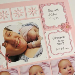 Mosaic Moments Pink Grid Paper, the Scallop Frame Die