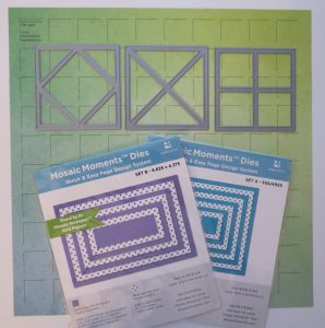Mosaic Moments New Die Trio - Supplies - layering dies - Die Sets A & B Ombre Grid Papers