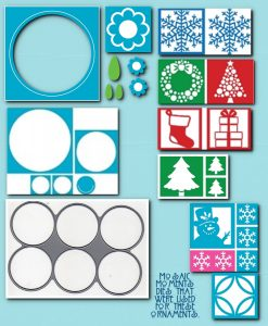 Mosaic Moments Designing with Dies Christmas Ornaments