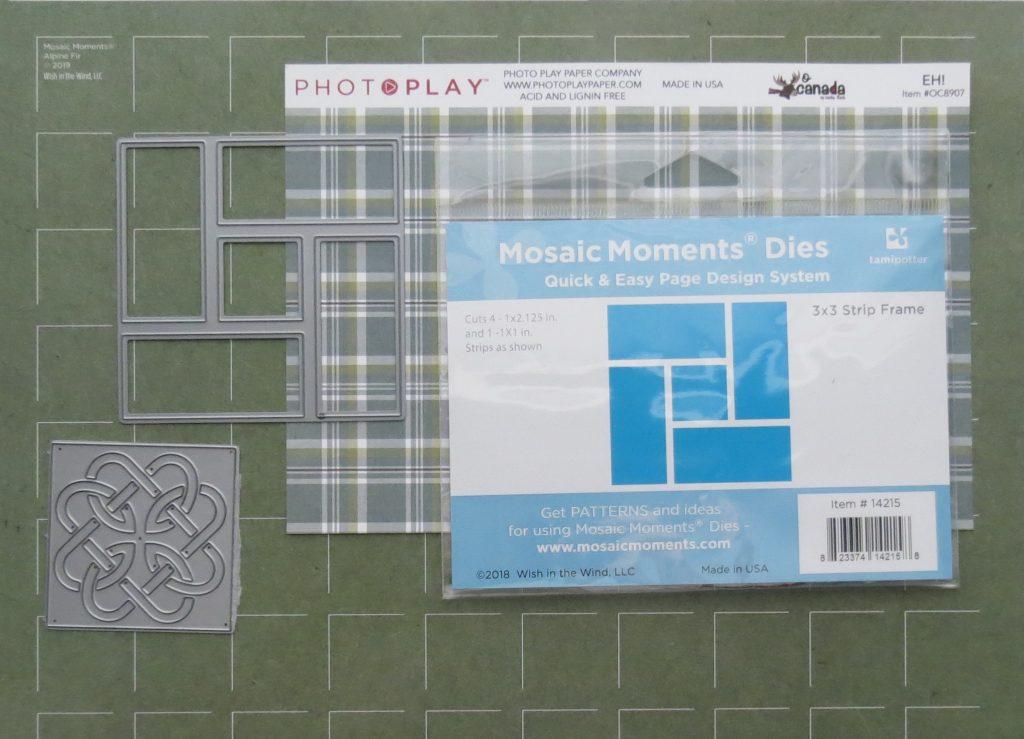 Mosaic Moments 3x3 Strip Frame Die