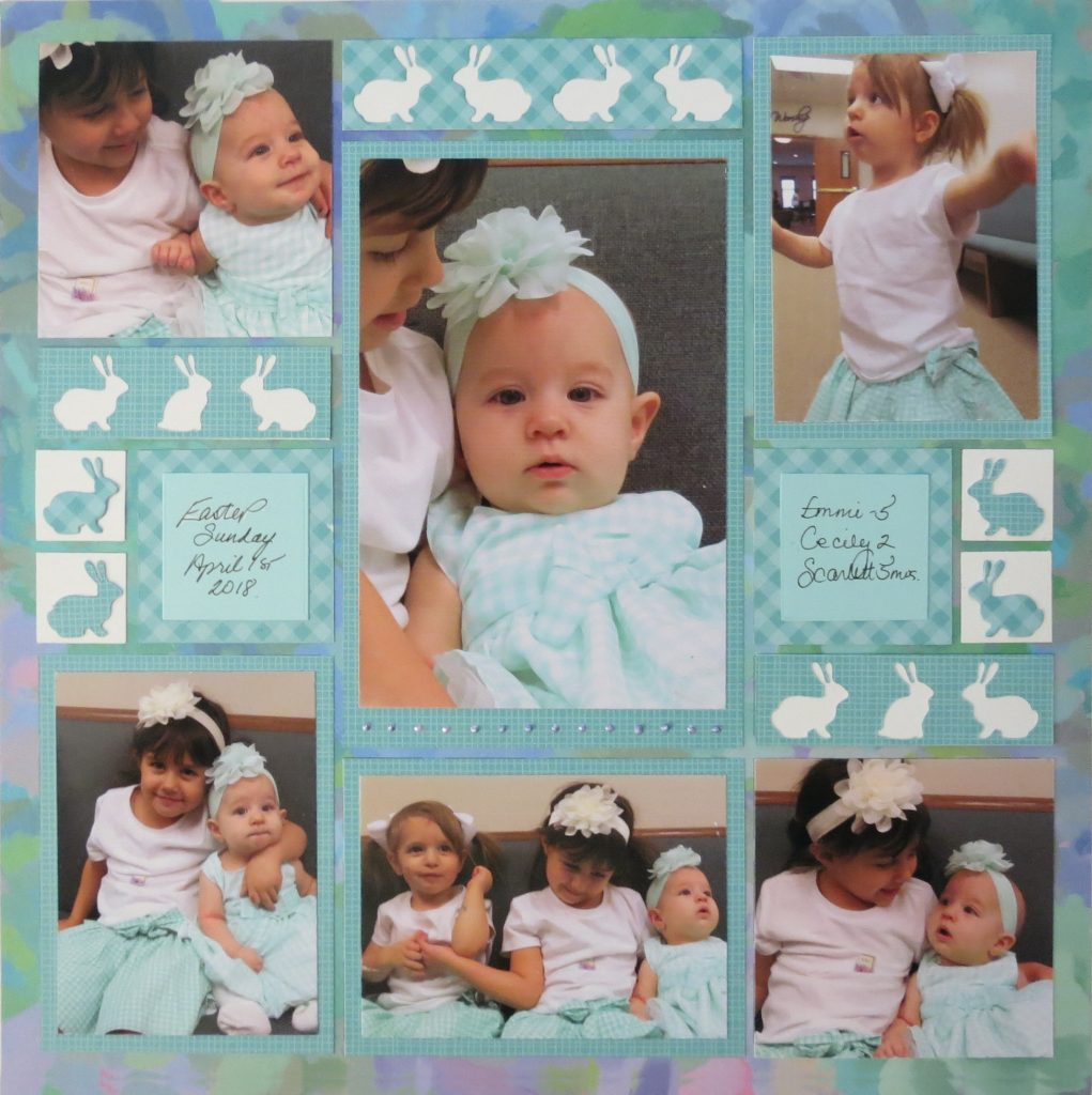 Mosaic Moments Happiness Collection of Grid Paper and the Bunny Hop Border Die set