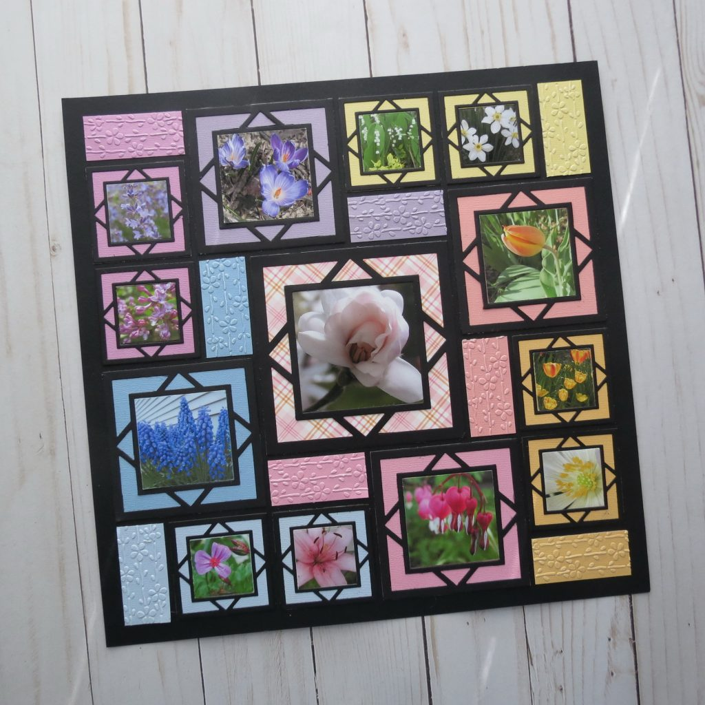 Mosaic Moments Spring Blooms featuring the Square Diamond Frame Die Family