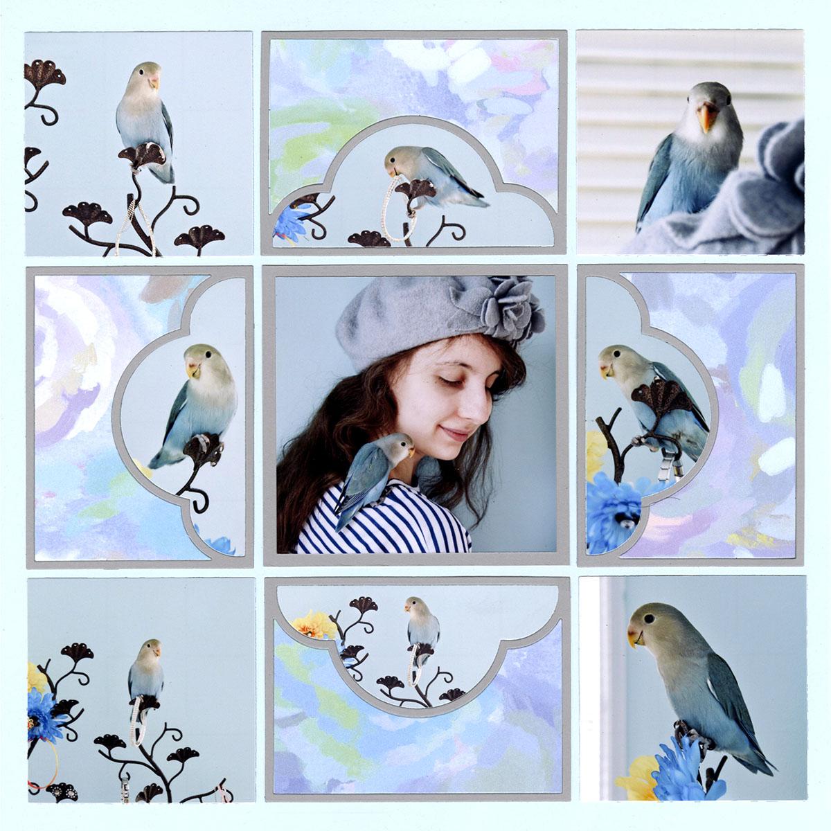 Bird Scrapbook Page
